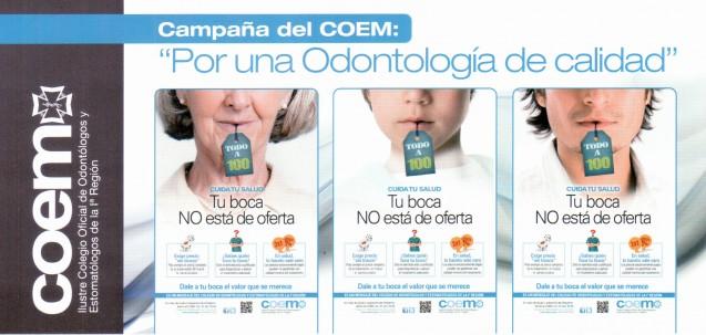 Campaña del COEM: «Por una Odontología de calidad»